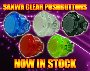 New Clear Sanwa Pushbuttons